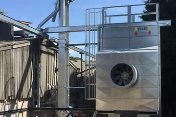 Continuous flow grain driers